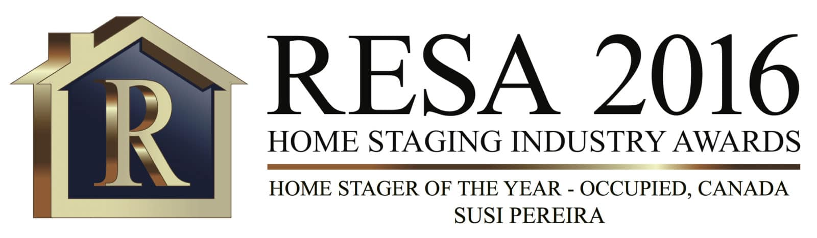 "Susi Pereira, owner of Well Dressed Home, won the prestigious award ""Occupied Home Stager of the Year"" for 2016 by the Real Estate Staging Association (RESA)."