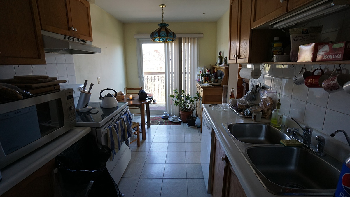 Photo of kitchen before it was renovated