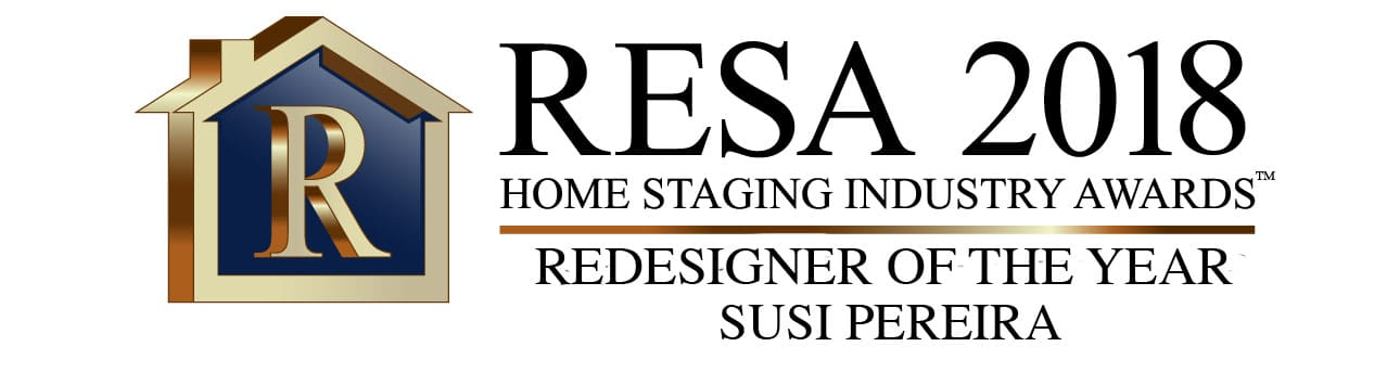 "Susi Pereira, owner of Well Dressed Home, won the prestigious award ""Redesigner of the Year"" for 2018 by the Real Estate Staging Association (RESA)."